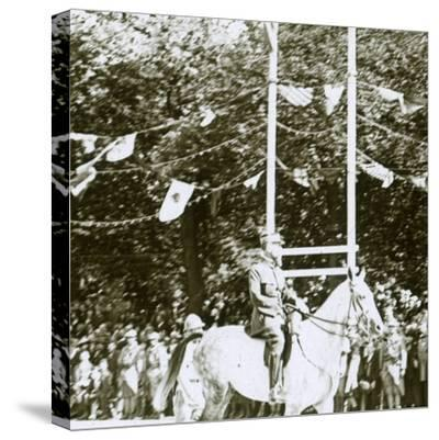 General Henri Gouraud at a victory parade, c1918-Unknown-Stretched Canvas Print
