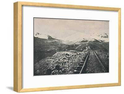 'Summit of the Oroya Railway', 1916-Unknown-Framed Giclee Print