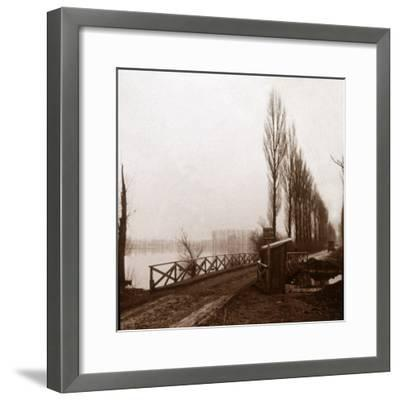 Bridge on the River Ailette, northern France, c1918-Unknown-Framed Photographic Print