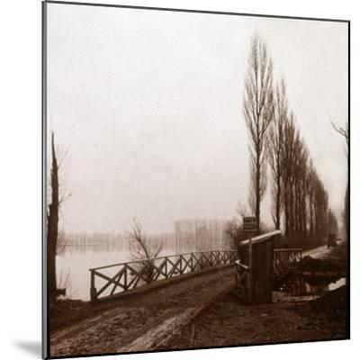 Bridge on the River Ailette, northern France, c1918-Unknown-Mounted Photographic Print