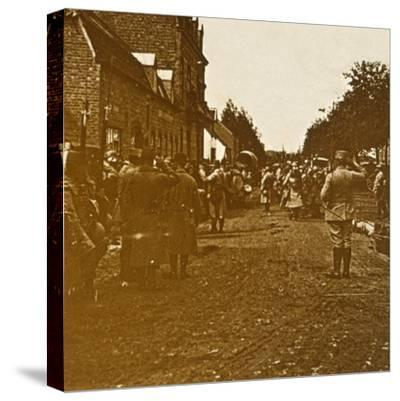 Troops leaving, c1914-c1918-Unknown-Stretched Canvas Print