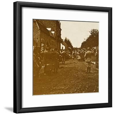 Troops leaving, c1914-c1918-Unknown-Framed Photographic Print