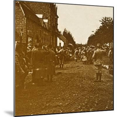 Troops leaving, c1914-c1918-Unknown-Mounted Photographic Print