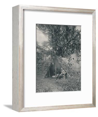 'Smoking Rubber', 1916-Unknown-Framed Photographic Print