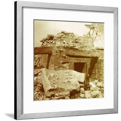 Artillery, Ramskapelle, Belgium, c1914-c1918-Unknown-Framed Photographic Print