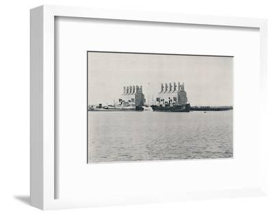 'Grain Elevators, Bahia Blanca', 1916-Unknown-Framed Photographic Print