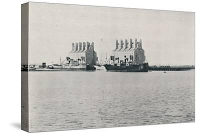 'Grain Elevators, Bahia Blanca', 1916-Unknown-Stretched Canvas Print