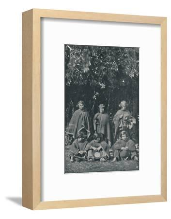 'Indians from the Island of Chiloe', 1916-Unknown-Framed Photographic Print