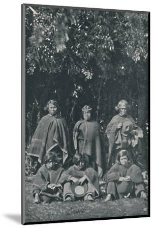 'Indians from the Island of Chiloe', 1916-Unknown-Mounted Photographic Print