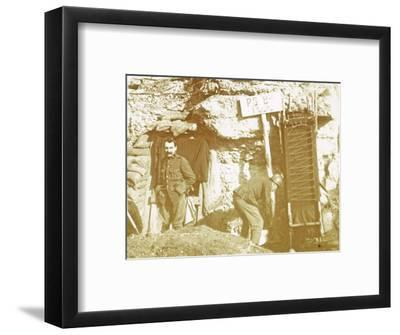 Soldiers in front line trenches, c1914-c1918-Unknown-Framed Photographic Print