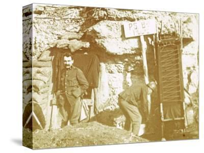 Soldiers in front line trenches, c1914-c1918-Unknown-Stretched Canvas Print