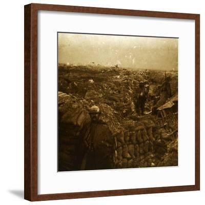 Trenches on the front line, Moulin de Souain, northern France, c1915-Unknown-Framed Photographic Print