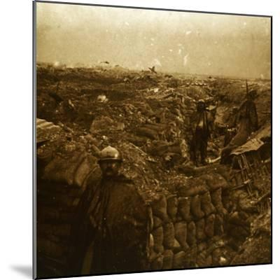 Trenches on the front line, Moulin de Souain, northern France, c1915-Unknown-Mounted Photographic Print