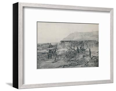 'S. Pierre After The Eruption', 1916-Unknown-Framed Photographic Print