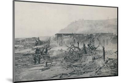 'S. Pierre After The Eruption', 1916-Unknown-Mounted Photographic Print