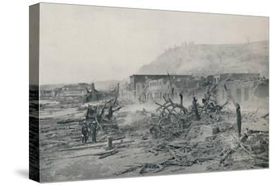 'S. Pierre After The Eruption', 1916-Unknown-Stretched Canvas Print