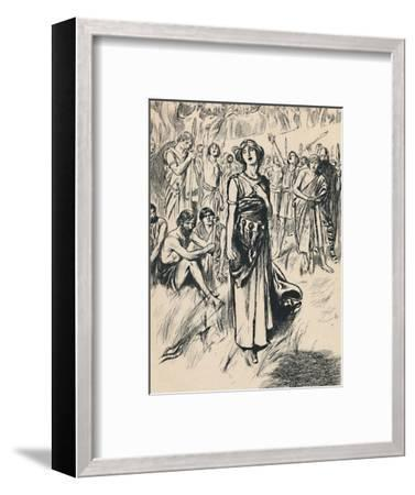 'Queen Boadicea and her Soldiers', c1907-Unknown-Framed Giclee Print