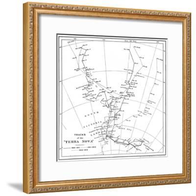 'Tracks of the Terra Nova', 1910-1913, (1913)-Unknown-Framed Giclee Print