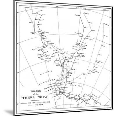 'Tracks of the Terra Nova', 1910-1913, (1913)-Unknown-Mounted Giclee Print