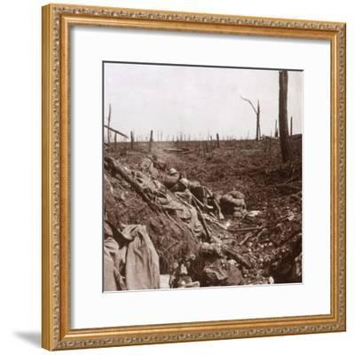 Trenches, Vaux, northern France, c1914-c1918-Unknown-Framed Photographic Print