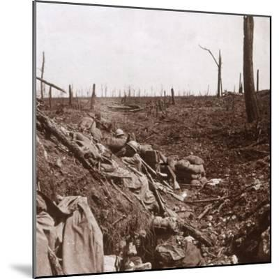 Trenches, Vaux, northern France, c1914-c1918-Unknown-Mounted Photographic Print