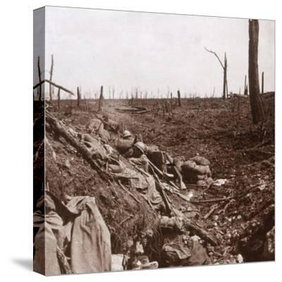 Trenches, Vaux, northern France, c1914-c1918-Unknown-Stretched Canvas Print