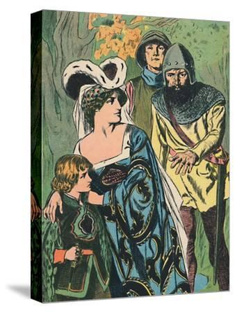 'The Robbers Discover Queen Margaret and the Prince', c1907-Unknown-Stretched Canvas Print