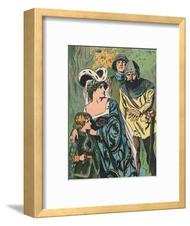 'The Robbers Discover Queen Margaret and the Prince', c1907-Unknown-Framed Giclee Print