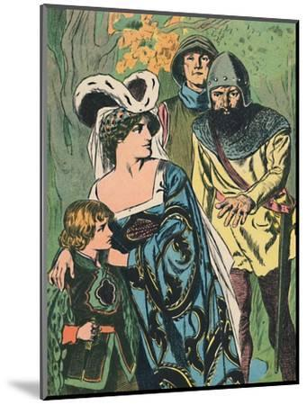 'The Robbers Discover Queen Margaret and the Prince', c1907-Unknown-Mounted Giclee Print