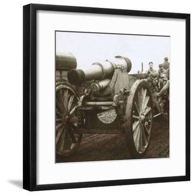 Artillery column at Verdun, northern France, c1914-c1918-Unknown-Framed Photographic Print