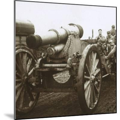 Artillery column at Verdun, northern France, c1914-c1918-Unknown-Mounted Photographic Print