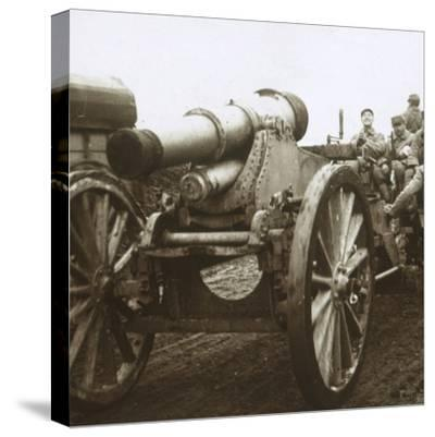 Artillery column at Verdun, northern France, c1914-c1918-Unknown-Stretched Canvas Print