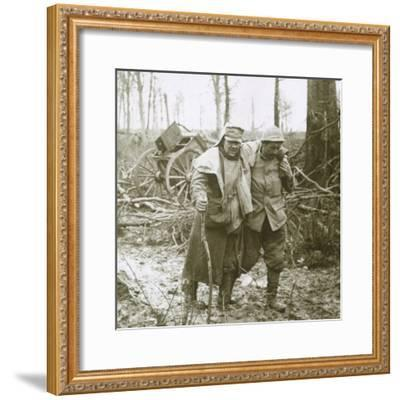 Wounded soldier, Verdun, northern France, 1916-Unknown-Framed Photographic Print