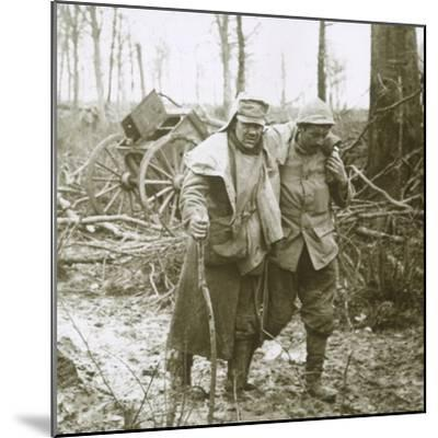 Wounded soldier, Verdun, northern France, 1916-Unknown-Mounted Photographic Print