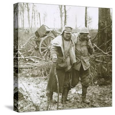 Wounded soldier, Verdun, northern France, 1916-Unknown-Stretched Canvas Print