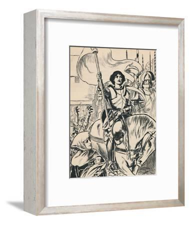 'Joan at the Head of the Army', c1907-Unknown-Framed Giclee Print