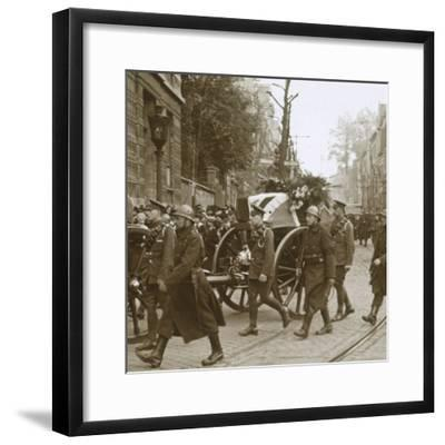 Burial of Edith Cavell, Brussels, Belgium, 1915-Unknown-Framed Photographic Print