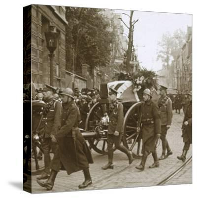 Burial of Edith Cavell, Brussels, Belgium, 1915-Unknown-Stretched Canvas Print