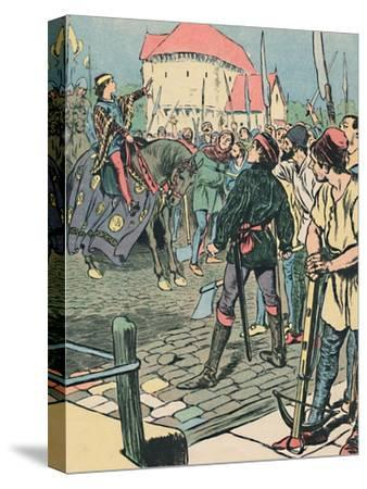 'Young King Richard Quells the Rebellion', c1907-Unknown-Stretched Canvas Print