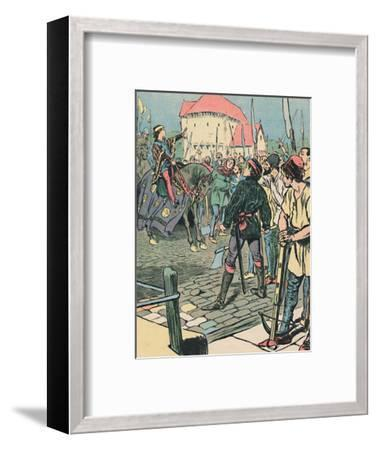 'Young King Richard Quells the Rebellion', c1907-Unknown-Framed Giclee Print