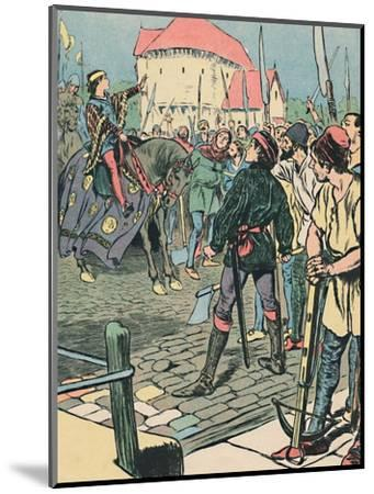 'Young King Richard Quells the Rebellion', c1907-Unknown-Mounted Giclee Print