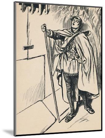 'Blondel Sings Beneath Richard's Window', c1907-Unknown-Mounted Giclee Print