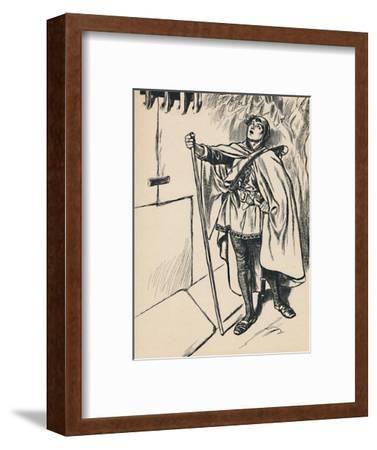 'Blondel Sings Beneath Richard's Window', c1907-Unknown-Framed Giclee Print