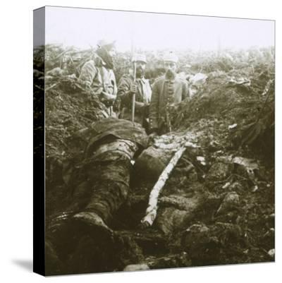 Bodies and prisoners, Les Éparges, northern France, 1915-Unknown-Stretched Canvas Print