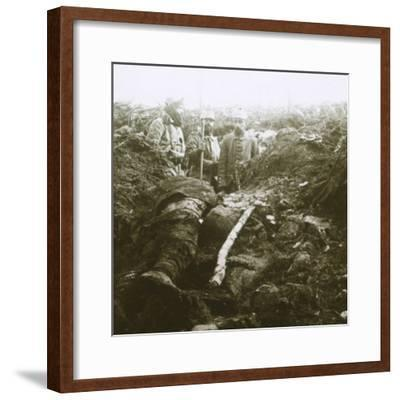Bodies and prisoners, Les Éparges, northern France, 1915-Unknown-Framed Photographic Print