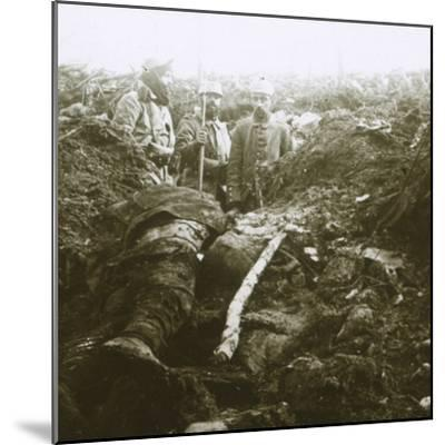 Bodies and prisoners, Les Éparges, northern France, 1915-Unknown-Mounted Photographic Print