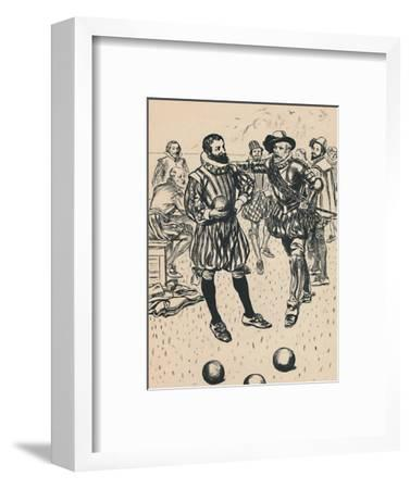 'Drake is Told That The Armada Is Approaching', c1907-Unknown-Framed Giclee Print