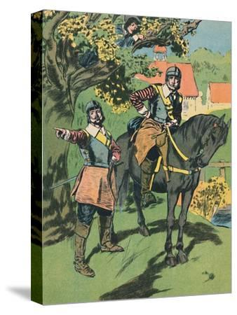 'King Charles in the Oak', c1907-Unknown-Stretched Canvas Print