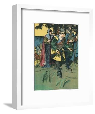 'The Pilgrim Fathers Entering The New World', c1907-Unknown-Framed Giclee Print