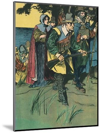 'The Pilgrim Fathers Entering The New World', c1907-Unknown-Mounted Giclee Print